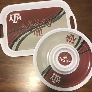 Texas A&M Plastic Party Plates